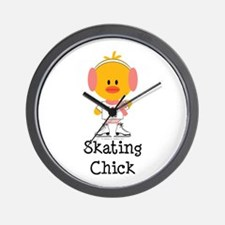 Ice Skating Chick Wall Clock