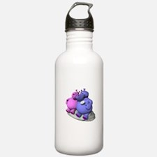 Hippos in Love Water Bottle