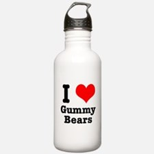 I Heart (Love) Gummy Bears Water Bottle