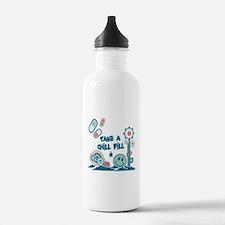 Chill Pill Retro Collage Desi Sports Water Bottle