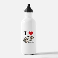 I Heart (Love) Burritos Water Bottle