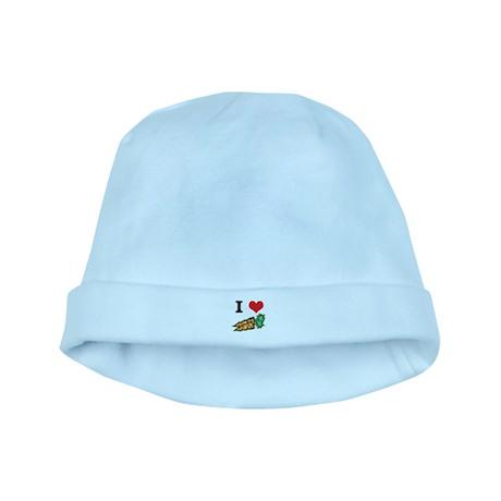 I Heart (Love) Carrots baby hat