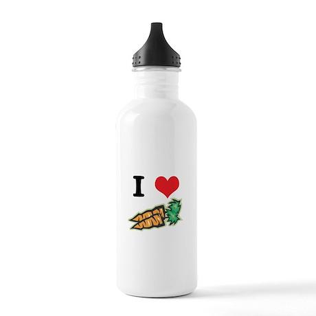 I Heart (Love) Carrots Stainless Water Bottle 1.0L