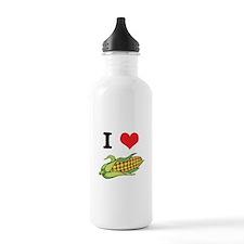 I Heart (Love) Corn (On the C Water Bottle