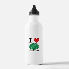 I Heart (Love) Green Beans Water Bottle