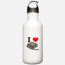 I Heart (Love) Lasagna Water Bottle