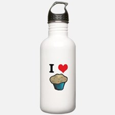 I Heart (Love) Muffins Water Bottle