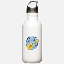 Guitar and Music Notes Design Water Bottle