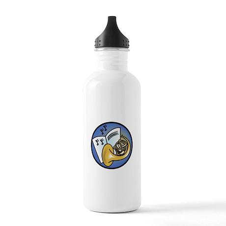 Tuba and Sheet Music Circle D Stainless Water Bott