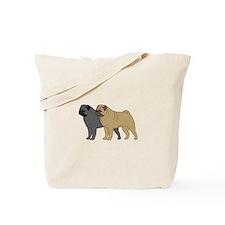 Double the Pug Fun Tote Bag