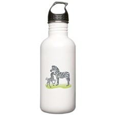 Mommy and Baby Zebra Water Bottle