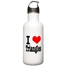 I Heart (Love) Triangles Water Bottle