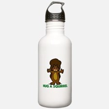 Hug a Squirrel Water Bottle