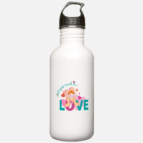 All You Need is Love Cupid De Water Bottle