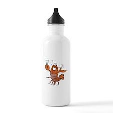 Toasting Wine Lobster Water Bottle