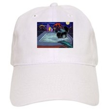 Black Pampered Poodle Baseball Cap