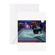 Black Pampered Poodle Greeting Cards (Pk of 10