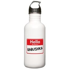 Hello My Name is Babushska Water Bottle