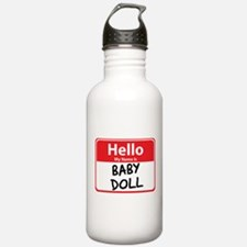 Hello My Name is Baby Doll Water Bottle