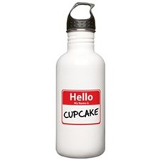 Hello My Name is Cupcake Sports Water Bottle