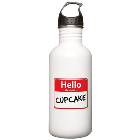 Hello My Name is Cupcake Stainless Water Bottle 1.