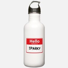 Hello My Name is Sparky Water Bottle
