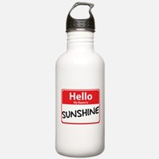 Hello My Name is Sunshine Water Bottle