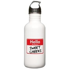 Hello My Name is Sweet Cheeks Water Bottle