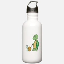 Turtle With Pet Snail Water Bottle