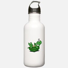 Turtle on His Back Water Bottle