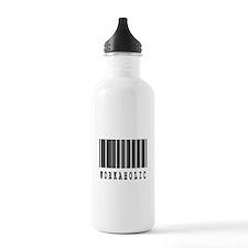 Workaholic Barcode Design Water Bottle