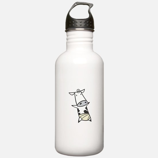 Baby Cow in Diaper Water Bottle