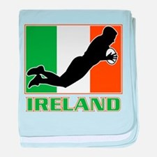 rugby ireland irish baby blanket