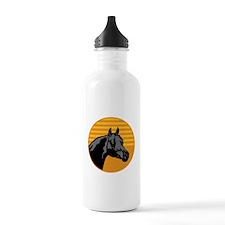 Ocher Horse Circle Design Water Bottle
