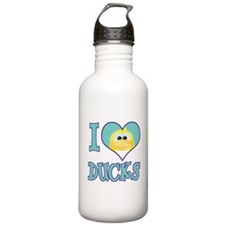 I Love (Heart) Ducks Water Bottle