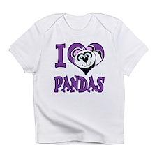 I Love (Heart) Pandas Infant T-Shirt