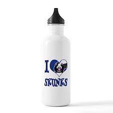 I Love (Heart) Skunks Water Bottle