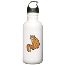Long-Haired Orange Cat Water Bottle