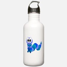 Blue Awareness Ribbon Goofkin Water Bottle