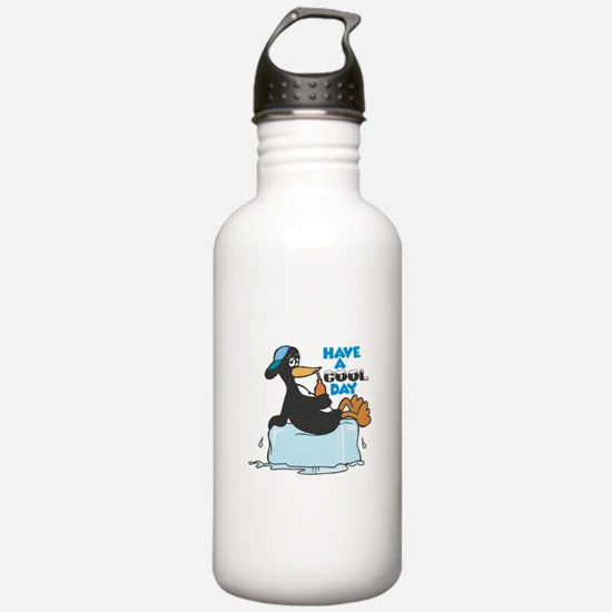Have a Cool Day Penguin Water Bottle