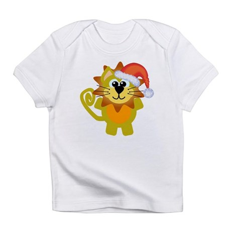 Cute Christmas Lion Santa Infant T-Shirt
