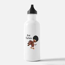Funny Afro Jive Turkey Water Bottle