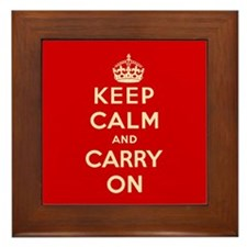 Keep Calm and Carry On Framed Tile