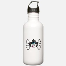 Silly Retro Girl Crossbones Water Bottle