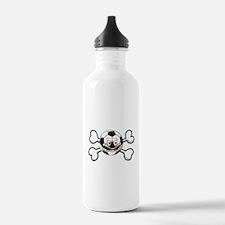 Angry Soccer Ball Crossbones Water Bottle