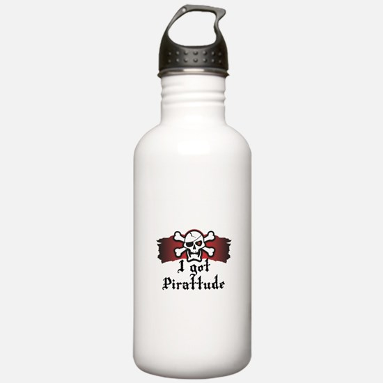 I Got Pirattude (Pirate Attit Water Bottle