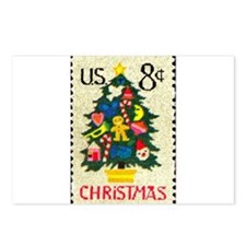 Christmas Stamp Postcards (Package of 8)