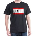 Berlin Flag Black T-Shirt