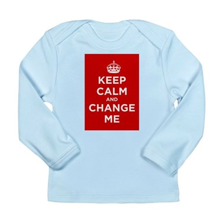 Keep Calm and Carry On Long Sleeve Infant T-Shirt
