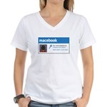 Macebook Women's V-Neck T-Shirt